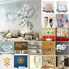 3d Mirror Effect Tile Wall Sticker Acrylic Stick On Art Decal Home Bedroom Decor