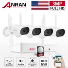 ANRAN WIFI Audio Pan Rotate Outdoor Home Wireless Security Camera System 1TB HDD