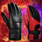 Riding Gloves PU leather Gloves Motorcycle Winter Plus velvet Windproof