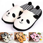 Fashion Women Lovely Cartoon Panda Slippers Home Floor Soft Stripe Female Shoes