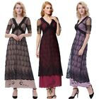 Dress Evening S-xl Victorian Sleeve Retro Vintage Lace V-neck Long Style Poque
