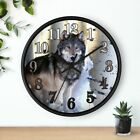 10 Wall clock - Wolf #1 Wolves Spiritual Animal Wild Dog Lover Birthday Gift