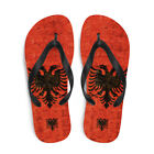 Flag of Albania and Flag of USA , Albanian Patriotic Gift Flip-Flops
