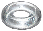 Silver Glitter 93cm Rubber Ring Float Pool Summer Donut Holiday Garden Fun Toy