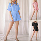 2PS Womens Cotton Short Pyjamas Dress Loungewear Nightwear Nightdress Sleepwear