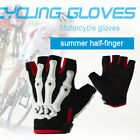 Skull Pattern Off-road Gloves Motorcycle Fingerless Riding Breathable Gym Gloves
