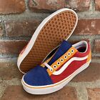 Vans Old Skool Corduroy Red Blue Orange White Men's Size 6 6.5 Women's 7.5 8 NEW