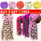 Artificial Fake Hanging Flowers Vine Plant Home Garden Decor Indoor Outdoor Dduk