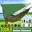 Camping Hammock Tent Mosquito Net+Waterproof Rainfly Tarp Shelter Cover 2 Person