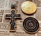 John Wick cross and coins set Orthodox Christianity CRUCIFIX Russian Pendant