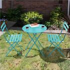 3 Piece Bistro Table Set Metal Folding Patio Bistro Set Outdoor Furniture Set