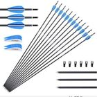 "12X 28""/30"" Carbon Arrows 6mm Spine1000 For Compound Recurve Bow Traget Hunting"
