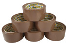 STIKKY BRANDED® STRONG TAPE 6X CLEAR/BROWN/FRAGILE 48mm x 50M PACKING PARCEL