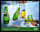 Perrier Citron Birth AD 2000 French Text Mineral Water Advertising Cartoon Art