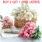 Silk Artificial Bouquet Flowers Decor Wedding Party Home Peony Fake Rose Bunch A