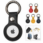 Geuine Leather Case For Apple Airtag Tracking Locator Keychain Ring Anti-lost