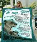 Lion Family from Mom to Son Never Feel that You Are Alone No Matter Blanket