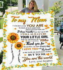 To my mom gift from daughter sunflower you are the world fleece blanket