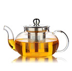 Glass Teapot With infuser 1200ml, 1000 ml Tea Kettle Stovetop Safe