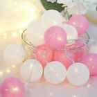 20 LED Cotton Balls Garland String Light Outdoor Holiday Wedding Christmas Party