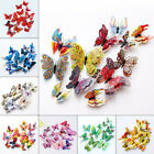 12x3d Butterfly Wall Stickers Home Decor Room Decoration Sticker Bedroom Kit New