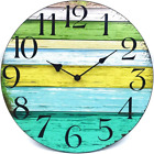 14 Large Indoor/Outdoor Wooden Decorative Rustic Vintage Country Wall Clock USA