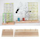 Wooden Quilting Ruler/Template Rack Bobbins Storage DIY Embroidery Stand