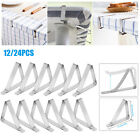 12/24PCS Table Cover Clips Stainless Steel Tablecloth Holder Clamps Party Picnic