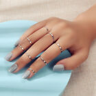 8pcs Gold Silver Simple Finger Knuckle Stack Rings Set Punk Au Stock Jewellery
