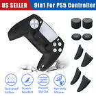 Silicone Case+Thumb Grip Cover+Trigger Extenders for PlayStation5 PS5 Controller